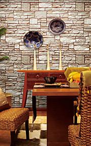 art contemporain de papier peint mur de papier peint de grain déco en pierre couvrant PVC / vinyle art mural
