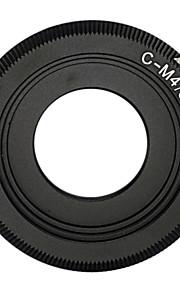 zwarte c mount lens voor micro 4/3 adapter e-p1 e-p2 e-p3 g1 GF1 GH1 g2 GF2 GH2 g3 GF3 c-m4 / 3
