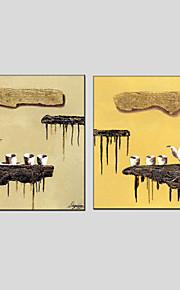 oliemaleri sæt med 2 abstrakt stil, lærred materiale med strakte ramme klar til at hænge størrelse: 70 * 70cm * 2stk.