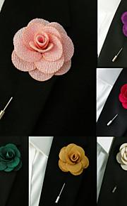Men's Multicolor Business Brooch Lapel Flowers Wedding