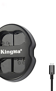 kingma® dual slot usb lader voor Nikon EN-EL15 batterij voor Nikon D750 D7100 D7000 D610 D600 D800E camera