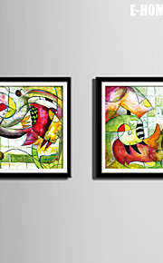 E-HOME® Framed Canvas Art, Abstract Pattern Canvas Print Set of 2