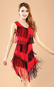 Latin Dance Dresses Women's Performance Polyester / Lycra Fashion Color Block Tassel(s) 1 Pieces