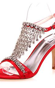 Chaussures de mariage - Noir / Bleu / Violet / Rouge / Ivoire / Blanc / Argent - Mariage / Soirée & Evénement - Bout Ouvert - Sandales -