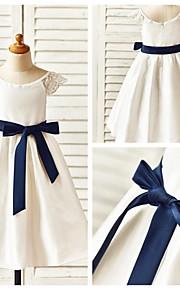 Детское праздничное платье - Трапеция Длина ниже колен Короткие Тафта