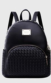 HOWRU® Women 's PU Backpack/Tote Bag/Leisure bag/Travel Bag-Black/Gold