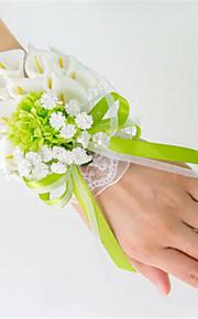Big Size Green Calla Wedding/Party Wrist Corsages for the Bridesmaid & Bride(9*16cm)
