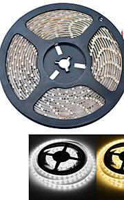 JIAWEN® 5 M 300 3528 SMD Blanc chaud / Blanc Etanche 25 W Bandes Lumineuses LED Flexibles DC12 V