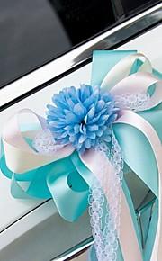 Artificial Flower Lace Decoration Car Door & Rearview Mirror(18*40cm)
