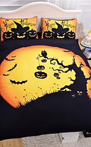 2015 cama quente halloween definir presente engraçado 3d impressão roupas de cama capa de edredon macio set 3pcs ou 4pcs gêmeo rainha rei