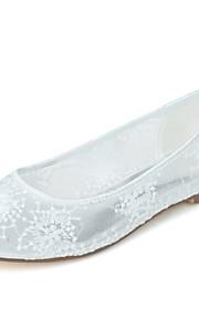 Chaussures de mariage - Noir / Rose / Ivoire / Blanc - Mariage / Bureau & Travail / Soirée & Evénement - Ballerine / Bout Arrondi - Plates