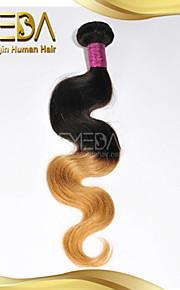 хороший дешевый бразильский девственной человеческого волос на теле волны волос Ombre ткет только 8 '2 тон 1b / 27 цвет 1шт' - 30 ''