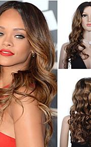 premierwigs 8а Рианна стиль Ombre т цветных естественная волна бразильский девственные шнурка человеческих волос парики шнурка передние