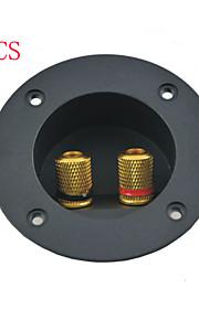 altavoz tono plateado taza redonda 2 terminales de unión junta post (3pcs)