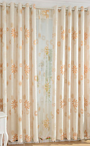 Two Panels Europe Contracted Simple But Elegant Fashion High-Grade Cotton And Linen Jacquard Curtains