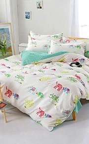 mingjie® bianco dolce baby elefante e la regina verde e dimensione doppia levigatura insiemi dell'assestamento 4pcs per ragazzi e ragazze