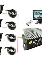 vier auto cassette 4-weg sd truck auto video recorder high-definition-monitor gastheer d1 logistiek auto bus reizen video dvr