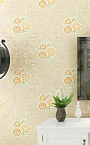 Floral Papier peint Contemporain Revêtement , Intissé 0.52mm