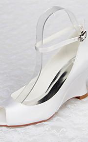 Chaussures Femme - Mariage / Bureau & Travail / Habillé / Décontracté / Soirée & Evénement - Blanc - Talon Aiguille -Compensées / Bout
