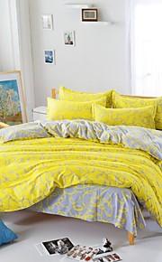 mingjie® pensiero giallo e grigio regina e due set di biancheria da letto di dimensioni levigatura 4pcs per i ragazzi e le ragazze