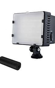 nanguange cn-126 LED-videolamp video lamp video leidde camcorder dv verlichting 5400K voor camera dv met metalen handvaten