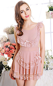 Women Sweet Sexy Babydoll & Slips Nightwear , Nylon / Polyester