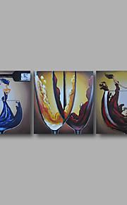listo para entregar estirada de la lona pintura al óleo moderna comedor deco casero pintado a mano enmarcada dos paneles