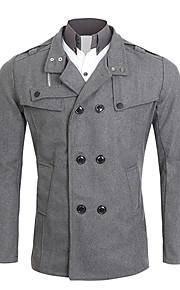 男性用 長袖 レギュラー コート , その他 プレイン