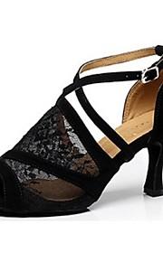 Zapatos de baile ( Negro ) - Danza latina - No Personalizable - Tacón Luis XV