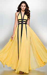 TS Couture® Formal Evening Dress A-line V-neck Floor-length Chiffon with