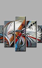 estirada pintura al óleo pintada a mano enmarcada en lienzo de pared moderna azul gris casa deco abstracto cinco paneles