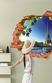 Arkitektur / Mote / fantasi / 3D Wall Stickers 3D mur klistermærker , Vinyl stickers 87*56cm