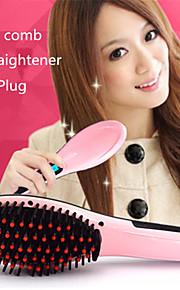 Straighteners / Varmluftbørste / Børste og kam Kan brukes på vått og tørt hår For bedre glans / For glattere hår Temperatur Kontroll