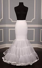 Underklänningar ( Nylon / Tyllnät / Tyll , Vit ) - Sjöjungfru Underkjol - 90-100cm - 3