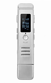 micro professionele hd voice control 8gb usb flash drive / mp3-speler / voice recorder - zilver