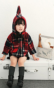 Girl's Red Jacket & Coat , Check Others Winter / Fall