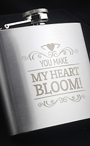 Personalized the Stainless Steel Hip Flasks 5-oz Flask Thanks