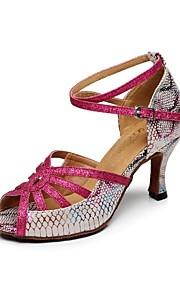 Zapatos de baile ( Rosado ) - Danza latina - No Personalizable - Tacón Luis XV
