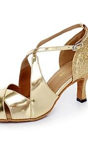 Zapatos de baile ( Oro ) - Danza latina - No Personalizable - Tacón Luis XV