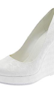 Chaussures de mariage - Blanc - Mariage / Habillé - Bout Arrondi - Talons - Homme