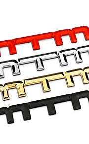 MTM bar zink legering krom metal bil styling emblem badge 3d sticker decal udvendige genmontering logo