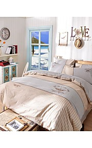 yuxin®the新しい英国スタイルの刺繍コットン4ピース活動染色キット寝具セット