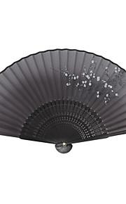 Silk Fans and parasols - 1 Piece/Set Hand Fans Garden Theme / Asian Theme / Floral Theme / Butterfly Theme Black