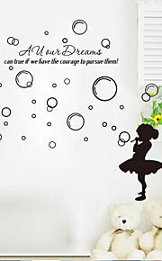 Tegneserie / Romantik / Mote / Landskap / folk / fantasi Wall Stickers Fly vægklistermærker , Vinyl stickers 56*47cm