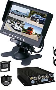 renepai® 64GB 7 tommer HD-skærm + bus 170 ° hd bil videooptager bil bakkamera vandtæt kamera 15m