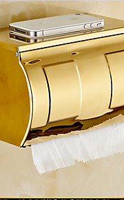Soporte para Papel Higiénico Ti-PVD Montura en Pared 21*10*13cm(8.3*3.9*5inch) Acero Inoxidable Contemporáneo
