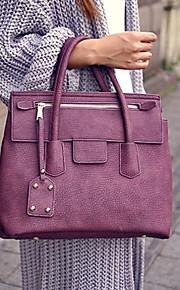 VUITTON® Women PU Doctor Shoulder Bag / Tote / Satchel - Purple / Brown / Gray / Black