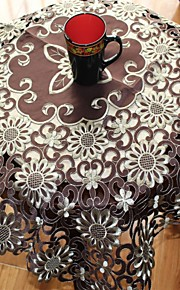 Multi-Purpose  Tablecloth With Size 90x90cm/36x36INCH With Embroidery Cutting by Hand