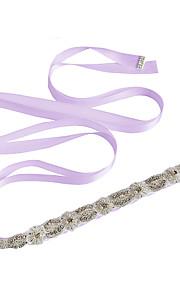 Satin Mariage Fête/Soirée Quotidien Ceinture-Billes Appliques Perles Cristal Broderie Femme 250cm Billes Appliques Perles Cristal Broderie