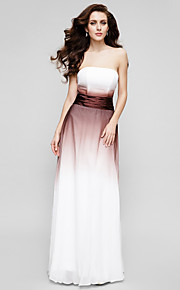 TS Couture® Formal Evening Dress - Color Gradient A-line Strapless Floor-length Chiffon